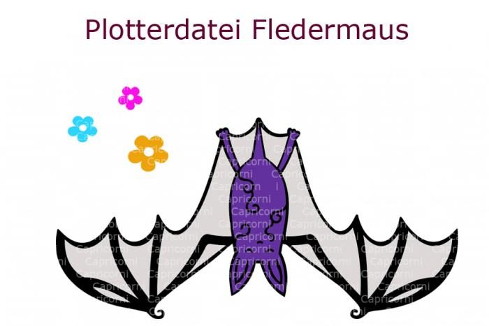Plotterdatei Fledermaus
