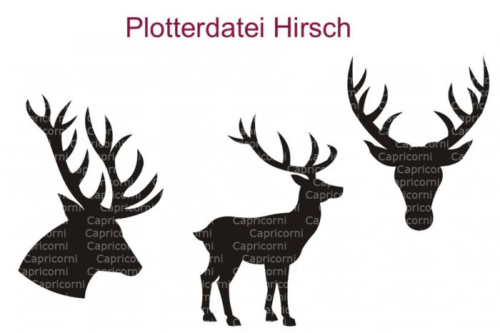 Plotterdatei Hirsch Set