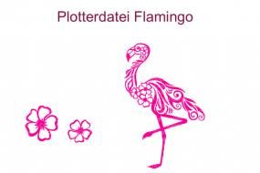 Plotterdatei Flamingo